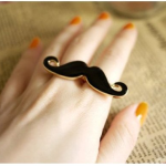 Handlebar Mustache Ring, only $.38 cents + FREE Shipping!