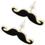 Mustache Earrings $.30, Mustache Ring $.38, both with FREE shipping!