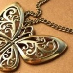 ** HOT ** Bronze Butterfly Pendant Necklace Only $1.29 with Free Shipping (reg $10.88)