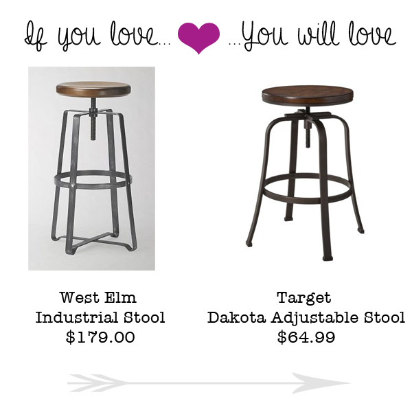 I just love the look of these industrial stools so if you love the West Elm Industrial Stool priced at $179.00 you will love the Dakota Adjustable Stool ...  sc 1 st  Money Saving Sisters : west elm industrial stool - islam-shia.org