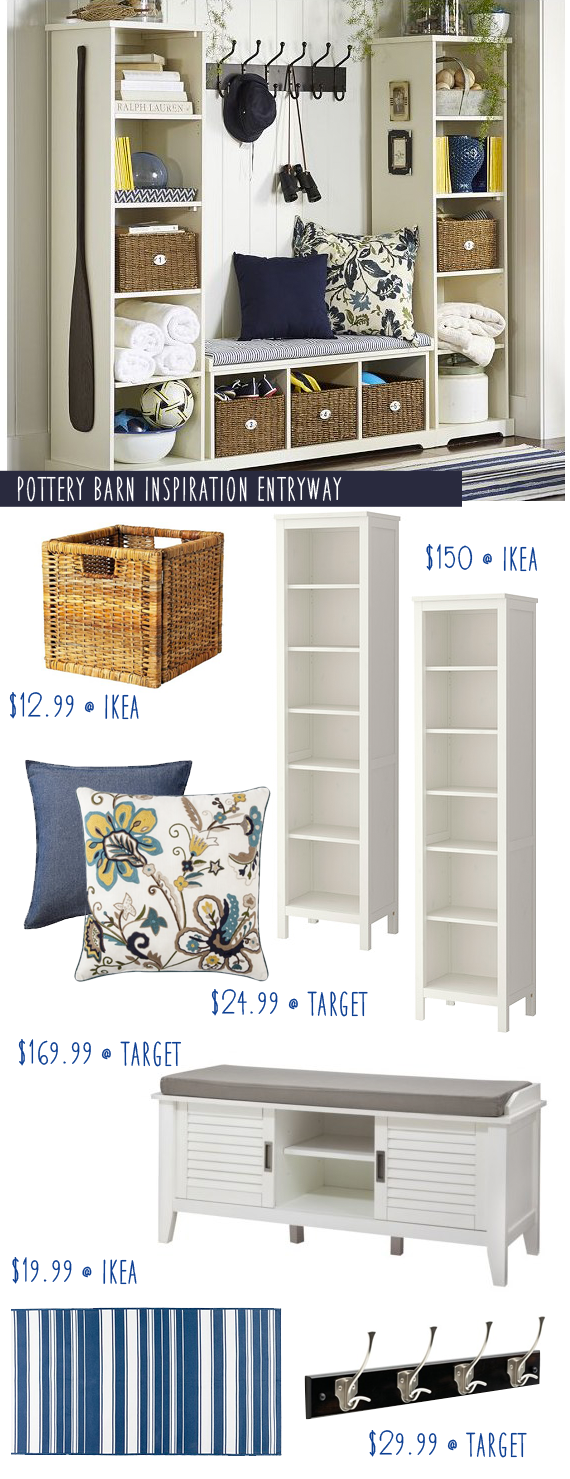 Pottery Barn Entryway Inspiration with Ikea Hacks Money Saving