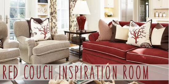 Red Couch Decorating