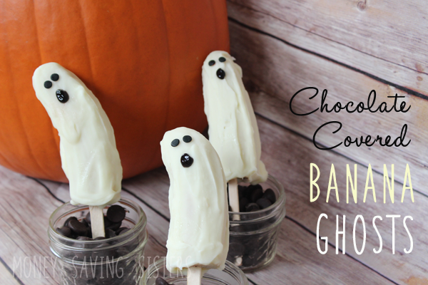White Chocolate Covered Banana Ghost Recipe