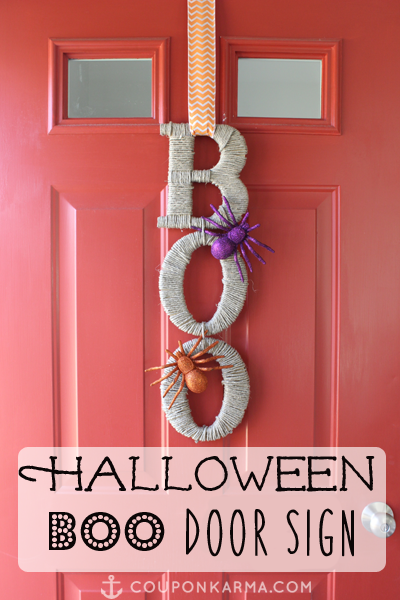 Diy Easy To Make Halloween Hanging Door Sign Money
