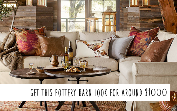 Pottery Barn Knockoff - Fall Living Room on a Budget! | Money Saving ...