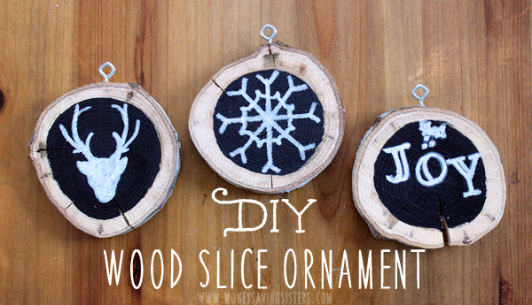 DIY Wood Slice & Chalkboard Paint Christmas Tree Ornaments