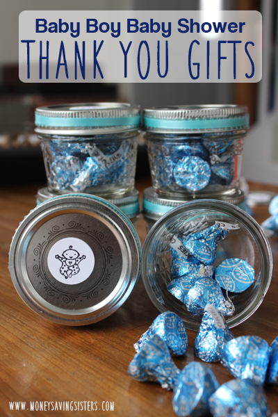 baby boy shower thank you gift around each money saving