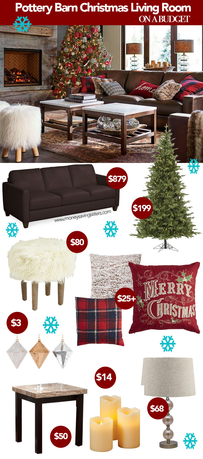 Pottery Barn Living Room Colors Pottery Barn Christmas Living Room Makeover On A Budget Money