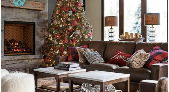 Pottery Barn Christmas Living Room Makeover On A Budget