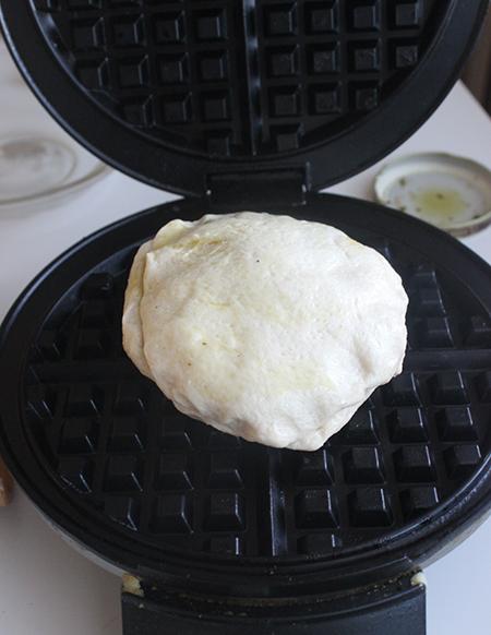 Pillsbury Biscuit Bruschetta Waffle With Balsamic Drizzle