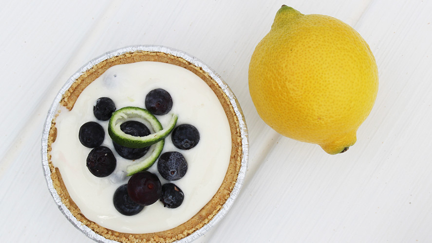 5 Ingredient No Bake Blueberry Lemonade Pie
