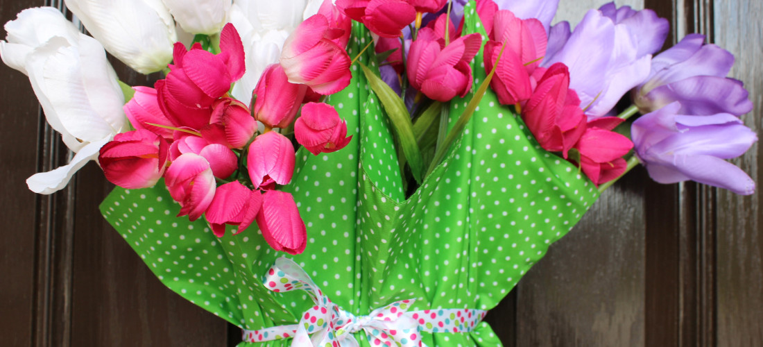 Springtime Umbrella bouquet for your Front Door