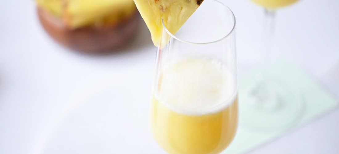 Brunch Cocktails: Pineapple Mimosa Recipe